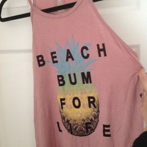 """Tops - LAST CHANCE NWOT """"Beach Bum for Life"""" tank top"""